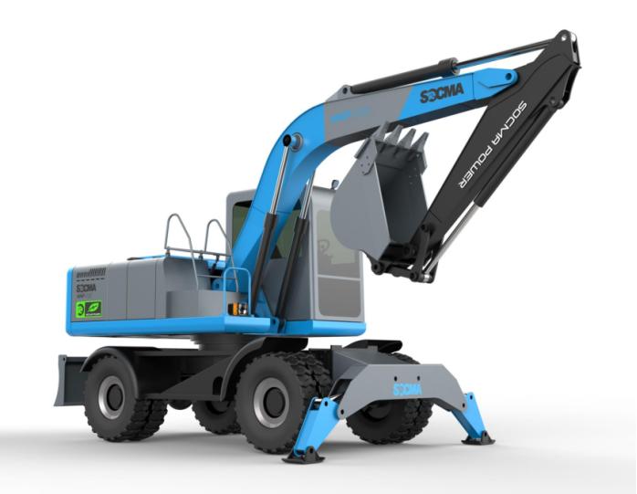 8吨电动轮式挖掘机